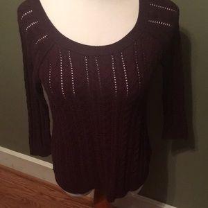 Burgundy AE Sweater